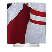 Royal Guard At Mohammed V Mausoleum Shower Curtain by Axiom Photographic