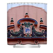 Royal Hawaiian Hotel Entry Facade Shower Curtain