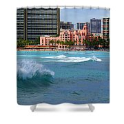 Royal Hawaiian Hotel Shower Curtain