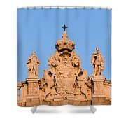 Royal Palace In Madrid Architectural Details Shower Curtain