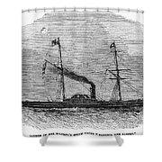 Royal Yacht, 1843 Shower Curtain