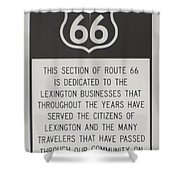Rt 66 Lexington County Signage Shower Curtain