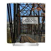 Rube Nelson Bridge 2 Shower Curtain