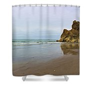 Ruby Beach Seastack Reflection Shower Curtain