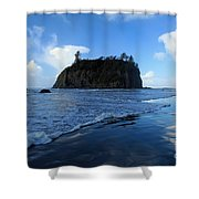 Ruby Blues Shower Curtain