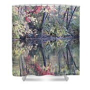 Ruby Of Fall Shower Curtain