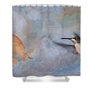 Ruby Throated Hummingbird 2 Shower Curtain