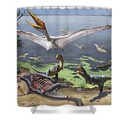 Rugops Primus Dinosaurs And Alanqa Shower Curtain