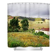 Ruin In Countryside Shower Curtain