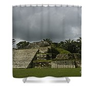 Ruins At Altun Ha Belize Shower Curtain