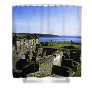 Ruins Of A Fort, Charles Fort, County Shower Curtain