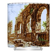 Ruins Of Roman Aqueduct, 18th Century Shower Curtain