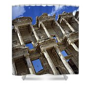 Ruins Of The Great Library At Ephesus Shower Curtain