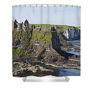 Ruins On Coastal Cliff Shower Curtain