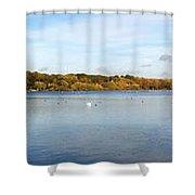 Ruislip Lido In Autumn Shower Curtain