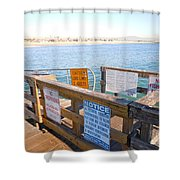 Rules Of The Pier  Shower Curtain