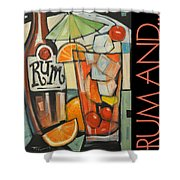 Rum And Poster Shower Curtain