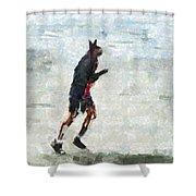 Run Rabbit Run Shower Curtain