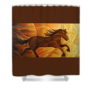 Running Flame Shower Curtain