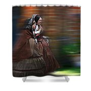 Running Late Shower Curtain