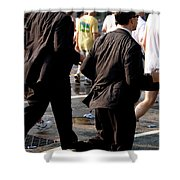Running Suits Color Shower Curtain