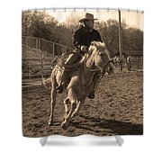 Running The Horse Shower Curtain
