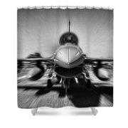 Runway Speed Shower Curtain