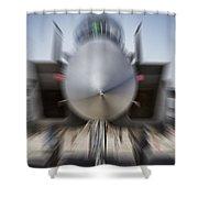 Runway Speed V2 Shower Curtain