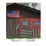 Rural Americana Shower Curtain