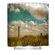 Rural Barbed Wire Fence Shower Curtain