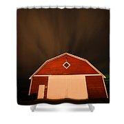 Rural Barn Night Photograhy Shower Curtain