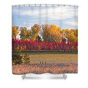 Rural Country Autumn Scenic View Shower Curtain