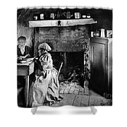 Rural Couple Eating, C1899 Shower Curtain