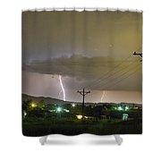 Rural Lightning Striking Shower Curtain