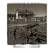 Rural Ontario Sepia Shower Curtain