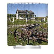 Rural Ontario Sketch Shower Curtain