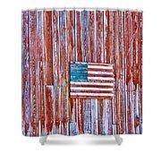 Rural Patriot Shower Curtain
