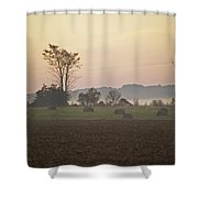 Rural Sunrise Shower Curtain
