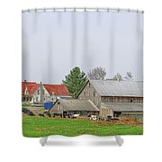 Rural Vermont Farm Scene Shower Curtain