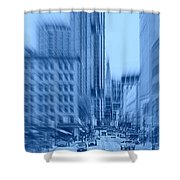 Rush Hour In Vancouver Shower Curtain