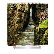 Rushing Through The Chasm Shower Curtain