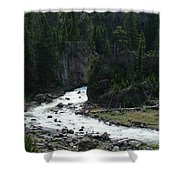 Rushing Thru The Mountains Shower Curtain