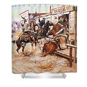 Russell Cowboy Art, 1909 Shower Curtain