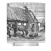 Russia: Famine, 1892 Shower Curtain