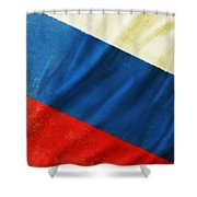 Russia Flag Shower Curtain