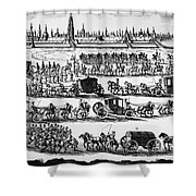 Russia: Procession, 1698 Shower Curtain