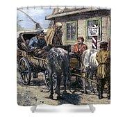 Russia: Siberia, 1882 Shower Curtain