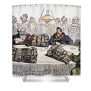 Russian Cartoon, 1854 Shower Curtain