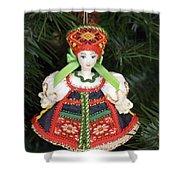 Russian Folk Ornament Shower Curtain