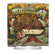 Russian Icon: Dice Players Shower Curtain